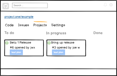 Repo Projects for managing